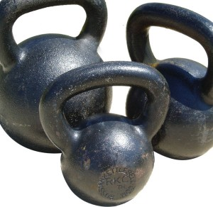 Kettlebells in 3 sizes